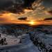 alba con neve