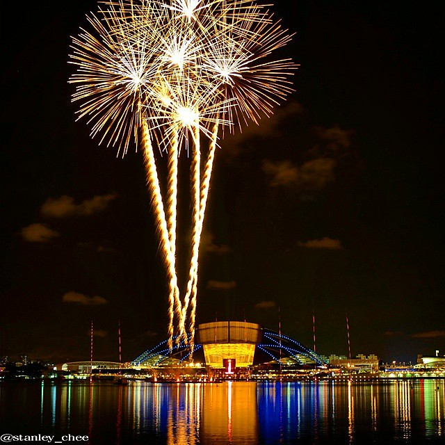 28th SEA Games Singapore 2015 Fireworks Display Closing Ceremony Rehearsal Celebrate The Extraordinary Singapore Sports Hub Kallang Basin Singapore 10 June 2015