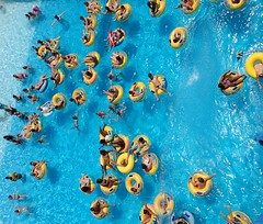 People and water. (CWhatPhotos) Tags: pictures park camera blue people holiday hot water pool digital swimming turkey that fun photography aqua day waves foto image artistic pics picture sunny pic olympus images ring clear have photographs photograph fotos waters z which contain inflatables marmaris hols cwhatphotos