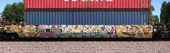 Combos (quiet-silence) Tags: railroad art train graffiti railcar graff rts freight combos fr8 intermodal ocg wellcarttx dttx744555