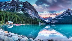 Canadian Rockies--Lake Louise @ Sunrise. (Carl Aylman Photography) Tags: travel sunrise landscape lakelouise canadianrockies victoriaglacier nikon24120mmf4 carlaylman nikond610