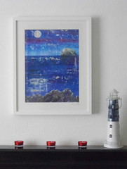 bassrockmoonlightprint3 (Stars&Stems) Tags: seascape scotland northberwick bassrock eastlothian limitededitionprint abstractseascape
