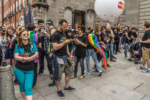 DUBLIN 2015 GAY PRIDE FESTIVAL [BEFORE THE ACTUAL PARADE] REF-106239