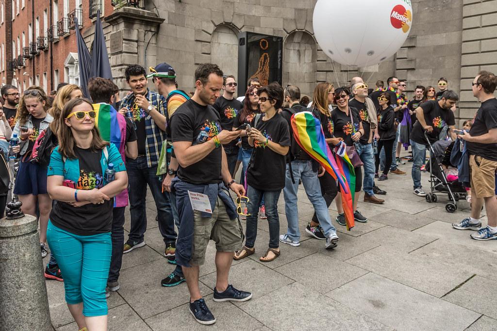DUBLIN 2015 GAY PRIDE FESTIVAL [BEFORE THE ACTUAL PARADE] REF-106239