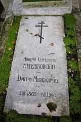 Dmitry Merejkovsky's grave. Sainte-Genevive-des-Bois Cemetery (Oleg.A) Tags: paris france grave ledefrance tomb cimetire saintegenevivedesbois emetery saintegenevivedesboisrussiancemetery