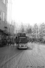 Tram Freiburg (symphonie der stadt serie) (Free2rec) Tags: freiburg multiexposure free2rec symphoniederstadt