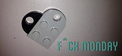 f^ck monday (Kiss Babszi) Tags: 3 love typography heart lego monday typo legoheart fuckmonday mondaylove