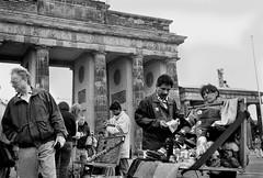 Selling Democratic Republic of Germany (Alberto Prez Puyal) Tags: berlin wall germany deutschland gate icons republic olympus icon alberto soviet era warsaw ddr xa tor selling item brandenburg democratic deutsche perez puyal