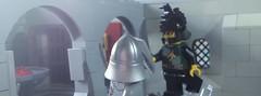 Fight of the knights (hachiroku24) Tags: castle skull fight lego medieval historic knights fantasy sword shield