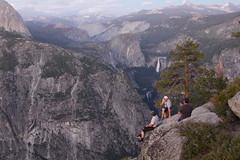 Living on the Edge (KC Mike Day) Tags: california park trees rock point waterfall glacier national yosemite edge ledge granite hanging dumbass mensaclub