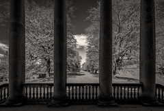 Gibside Avenue (www.SuperStoked.me) Tags: trees england lake pond balcony chapel gateshead avenue pillars nationaltrust gibsidehall superstoked