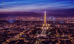 La tour Eiffel (LogZ here) Tags: city blue paris france monument architecture night eiffel franais parisian