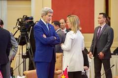 Secretary Kerry Chats With E.U. High Representative Mogherini Before ASEAN Regional Forum Retreat in Malaysia (U.S. Department of State) Tags: malaysia kualalumpur johnkerry asean federicamogherini