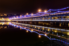 """""""Christmas Reflections"""" Craigavon Bridge - Derry - Londonderry (Gareth Wray - 9 Million Views - Thank You) Tags: craigavon bridge derry londonderry landmark historic city maiden old steel iron metal light lights landerns water river foyle reflection reflections xmas christmas holiday decorations 2016 double decker road mirror calm scenic tourist tourism gareth wray photography strabane county night scape nightscape cityscape waterside view railway northern ireland ni uk irish architecture riverscape nikon nikkor 1424mm lens photographer vacation europe d810 waterfront outdoor building infrastructure structure"""