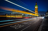 Bus Lane (Chris Buhr) Tags: london big ben bus lane westminster uk united kingdom grosbritannien blaue stunde blue hour leica chris buhr reise