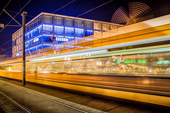 Speed in Berlin / Germany (zilverbat.) Tags: berlijn germany duitsland longexposurebynight german speed zilverbat image centrum longexposure de deutschland ddr tram nightphotography nightshot nightlights berlin urban urbanvibes photography postcard wallpaper visit travel timelife tourist tourism tripadvisor avond avondfotografie afterdark dark stadt mitte bild rad square saturn bahn