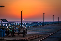 Sunset from the Pacasmayo pier.