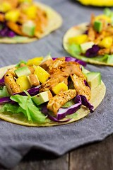 Jerk Chicken Tacos w (alaridesign) Tags: jerk chicken tacos w mango avocado salsa giveaway