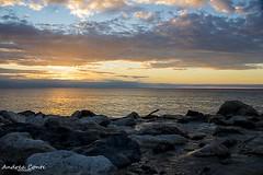 Amantea: tramonto (AndConte) Tags: seascape landscape beautiful couds sky sea subset italia calabria amantea