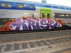 272 (en-ri) Tags: krise nose figor dope lilla bianco arancione train torino graffiti writing