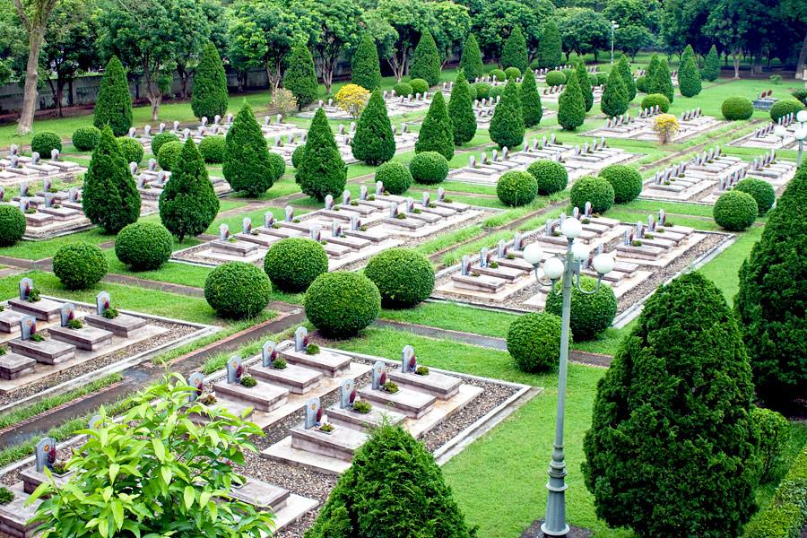 Military cemetery in Dien Bien Phu Vietnam