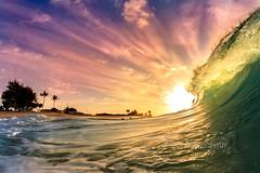 Sunburst morning (MICHAEL A SANTOS) Tags: michaelasantos saintsphotography sandys liquideyewaterhousings liquideyewaterhousingc1795 canon7d rokinon8mmfisheye beach sunrise hawaii hawaiianbeaches hawaiibeaches oahu seashore eastside paradise surfphotography surf surfhousing shorebreak