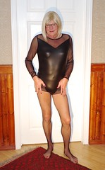 Just the bodysuit! (donnacd) Tags: sissy tgirl clit clitty tgurl jewels dressing crossdress crossdresser cd travesti transgenre xdresser crossdressing feminization tranny tv ts feminized domina donna red dress scarf heels gold crossed legs pumps shoes panties thong polka dots white blouse earrings hair black stockings tights bra fishnet corset necklace collar he she look 易装癖 シーメール 性転換 第三性 跨性别 ミスターレディ