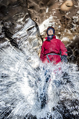 _DSC1030 (ChunkyCaver) Tags: cave caver caving spelunking stream water streamway janeallen underground