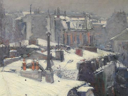 CAILLEBOTTE Gustave,1878 - Toits sous la Neige (Orsay) - Detail 23