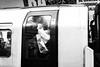 Full train (Tobia Scandolara) Tags: street streetphoto urban subway london underground train full blackandwhite bw bn photostreet biancoenero monochrome life live moment istantanea monocromo metropolitana england uk