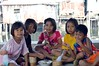 children (the foreign photographer - ฝรั่งถ่) Tags: five children one eating noodles bowl khlong thanon portraits bangkhen bangkok thailand canon kiss 400d
