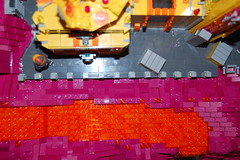 Top view (sander_koenen92) Tags: lego space mining tower lava platform outpost container ship crane crystals