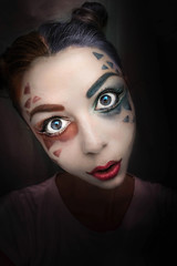 baby doll (DuD82) Tags: portrait face makeup scary doll manipulation photomanipulation photography art creative