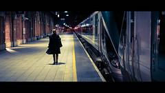 The last train - Dublin, Ireland - Color street photography (Giuseppe Milo (www.pixael.com)) Tags: streetphotography night cinemascope fujix cinematic street city fuji2314 fujifilm urban fuji candid train photo photography dublin woman ireland late europe geotagged life countydublin ie onsale faceless