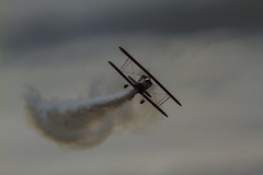 Puff'in smoke (Colin-Powell) Tags: sky canon climb fly wings aircraft smoke wheels 7d pane propeller decent pilot warwickshire stunt biplane bidford