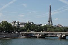 Paris by The Seine 4122 (Thorbard) Tags: city bridge summer sky paris france river cityscape bluesky eifeltower riverseine laseine canonefs1585mmf3556isusm summer2015