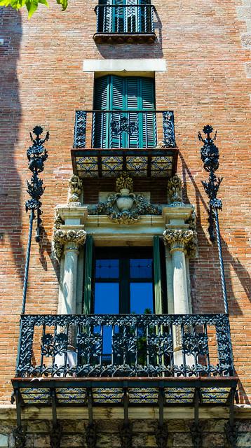Terraced balconies