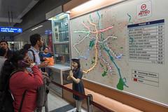 Metro system map at Rajiv Chowk station, New Delhi (Joyce Pinsker) Tags: india map delhi rajiv 2015 delhimetro nationalcapitalterritory rajivchowkstation