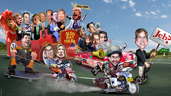 2016 Republican Clown Car Parade - 17 Candidates On The Road To Iowa (DonkeyHotey) Tags: art politicalart