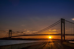 Sunset (Marchelo13) Tags: bridge sunset sky sun ny clouds nycatnight newyorksunset