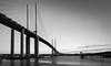 QE Bridge at Dartford (Graeme Andrews) Tags: longexposure bridge blackandwhite monochrome landscape mono pentax queenelizabethbridge dartfordcrossing nd110 tenstopfilter pentaxkr bwnd30x1000filter
