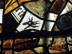 Southwell Nottinghamshire (jmc4 - Church Explorer) Tags: southwell minster church nottinghamshire stained glass window dragon
