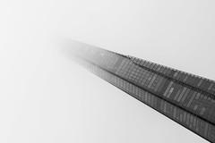 A Shard to Infinity (Yannis_K) Tags: london blackandwhite monochrome fog unusualangle theshard architecture minimal minimalistic lines diagonal yannisk nikond7100 nikon85mmf18g