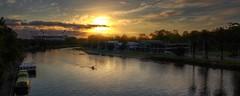 #40 / 100x - Yarra Sunrise (DaveFlker) Tags: yarra river sunrise melbourne mcg