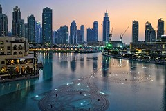 Dancing Fountains, Dubai (stevedouglas2) Tags: skyline fountains dancing water dubai dubaimall unitedarabemirates
