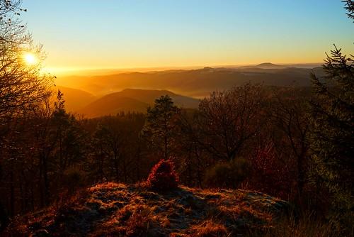 Sonnenuntergang auf der Hohen Warte