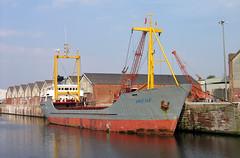 'Irene' Runcorn docks 27th February 2005 (John Eyres) Tags: irene 1978 seen runcorn docks 270205 manchestershipcanal