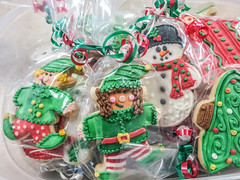 class holiday party (jojoannabanana) Tags: 3662016 canonpowershot christmas closeup cookies decoratedcookies elves frosting holidays party snowman sugarcookies s100