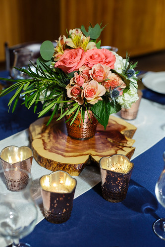 "Rose Gold Array Votive Floral Centerpiece • <a style=""font-size:0.8em;"" href=""http://www.flickr.com/photos/81396050@N06/31680708300/"" target=""_blank"">View on Flickr</a>"