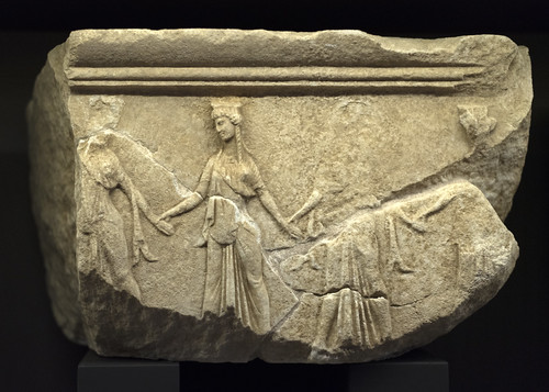 Frieze block with relief of choral dancers, Samothrace